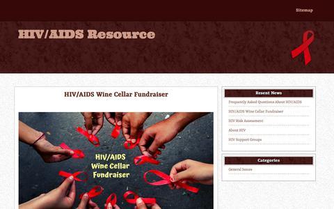 Screenshot of FAQ Page hivaidsresource.org - HIV/AIDS Wine Cellar Fundraiser – HIV/AIDS Resource - captured Jan. 18, 2020