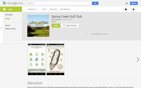 Screenshot of Android App Page google.com - Spring Creek Golf Club - Android Apps on Google Play - captured Oct. 25, 2014