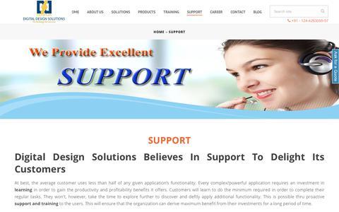 Screenshot of Support Page ddsplm.com - Best Service Provider for NX12 CAD CAM CAE Software in Delhi NCR - captured Aug. 23, 2019