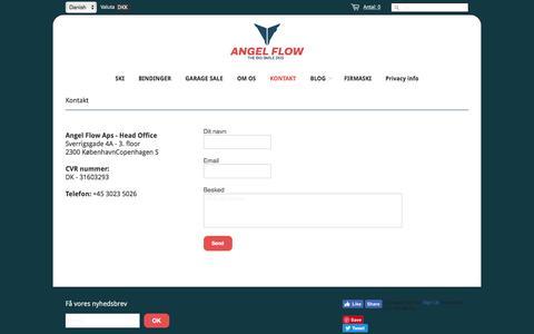 Screenshot of Contact Page angel-flow.com - Kontakt information – ANGEL FLOW - captured July 30, 2018
