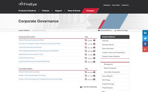 FireEye - Corporate Governance