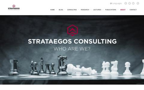 Screenshot of About Page strataegos.com - About Strataegos Consulting - captured April 8, 2016