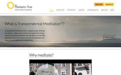 Screenshot of Home Page meditationtrust.com - Transcendental Meditation UK Charity: The Meditation Trust - captured Oct. 23, 2017