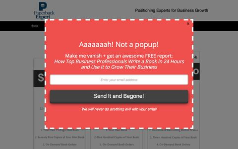 Screenshot of Pricing Page paperbackexpert.com - Pricing — PaperbackExpert.com - captured July 15, 2018