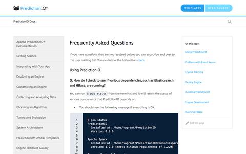 Screenshot of FAQ Page apache.org - Frequently Asked Questions - captured Sept. 24, 2018