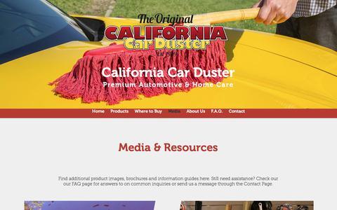 Screenshot of Press Page calcarduster.com - Original California Car Duster   Media - captured Oct. 7, 2017