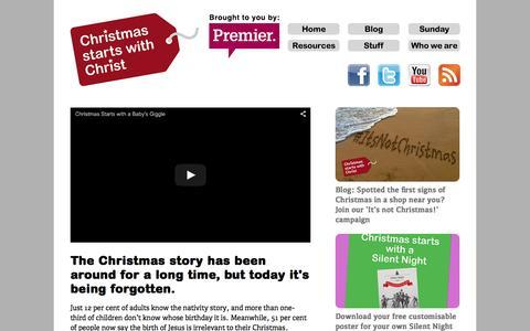 Screenshot of Home Page christmasstartswithchrist.com - Christmas Starts with Christ - captured Sept. 18, 2015