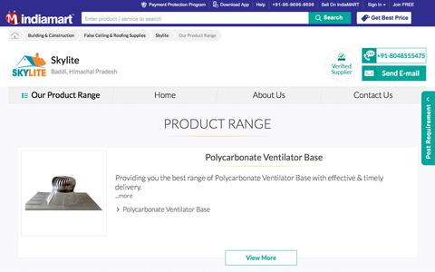 Screenshot of Products Page indiamart.com - Our Product Range | Manufacturer from Baddi - captured Nov. 3, 2017