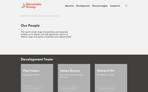 Screenshot of Team Page generatorgroup.co.uk - Our People | Property Development Experts | Generator Group - captured Dec. 14, 2018
