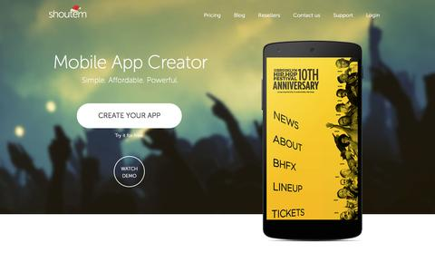 ShoutEm - Make an App - Build Apps with Easy Application Creator