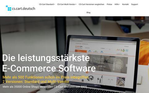 Screenshot of Home Page cs-cart-deutsch.com - CS-Cart Deutsch - Shopping Cart Software | eCommerce Lösungen | CS-Cart basierte Webshops | Schlüsselfertige Online Shop Software - captured Oct. 24, 2018