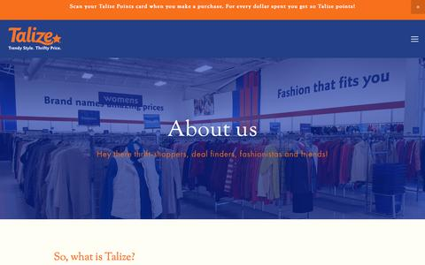 Screenshot of About Page talize.com - Talize — About us - captured June 19, 2017