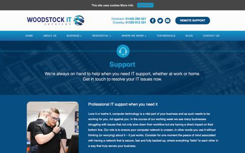 Screenshot of Support Page woodstockit.co.uk - Support | Woodstock IT - captured Nov. 12, 2017