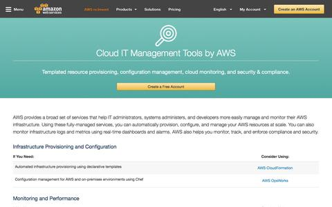 Screenshot of Team Page amazon.com - IT Managment Tools – Amazon Web Services (AWS) - captured July 31, 2016