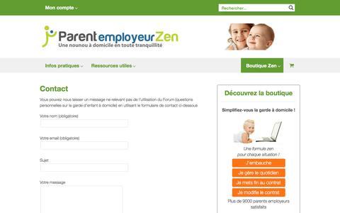 Screenshot of Contact Page parent-employeur-zen.com - Contact - Parent employeur Zen - captured July 5, 2017