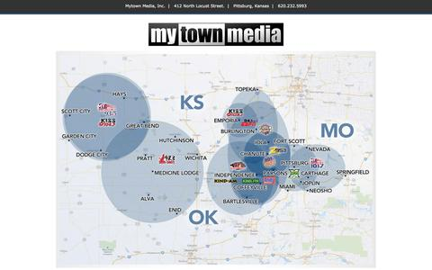 Screenshot of Home Page mytown-media.com - Mytown Media - captured Oct. 11, 2015
