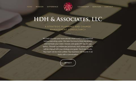 Screenshot of Contact Page Services Page Team Page hdhaa.com - HDH & Associates, LLC - captured Nov. 1, 2014