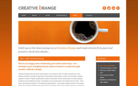Screenshot of Press Page creativeorange.co.uk - Our 10th anniversary - Creative Orange - captured Sept. 30, 2018