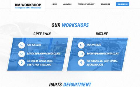 Screenshot of Contact Page bmworkshop.co.nz - Contact Us | BM Workshop - captured May 31, 2017