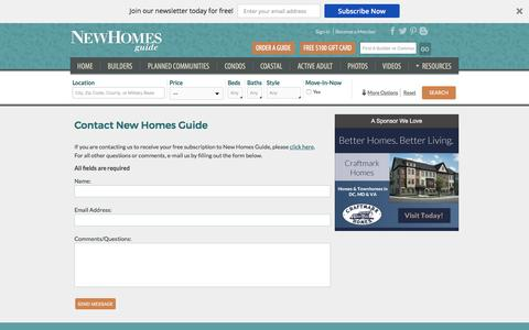 Screenshot of Contact Page newhomesguide.com - Contact New Homes Guide - captured Oct. 31, 2017