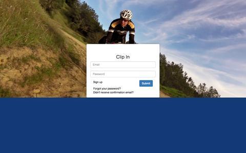 Screenshot of Login Page velopro.bike - VeloPro     Clip In - captured Aug. 13, 2015