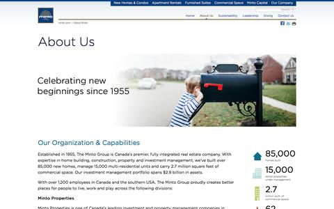 Minto Group Inc. - About Us