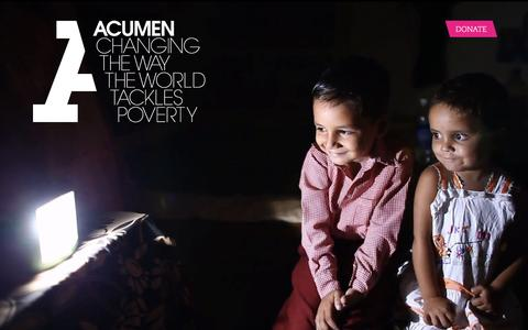 Screenshot of Home Page acumen.org - Acumen is a Bold New Way of Tackling Poverty - captured Feb. 14, 2016