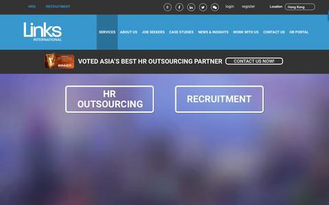 Screenshot of Services Page linksinternational.com - Top Recruitment Agency in Hong Kong   HR Agency   Links International - captured Dec. 8, 2018