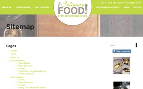 Screenshot of Site Map Page theculinaryfoodgroup.com - Sitemap - The Culinary Food Group - captured Dec. 16, 2016