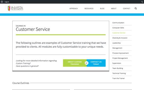 Screenshot of Support Page invistaperforms.org - Customer Service - Invista - captured Oct. 15, 2017