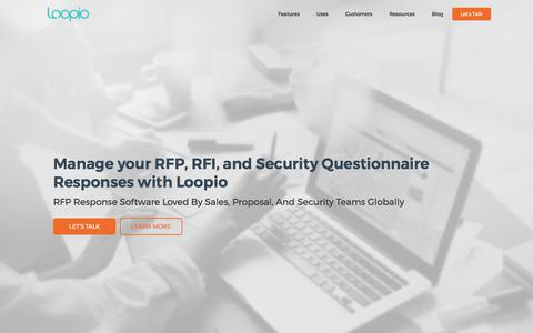 RFP Software | Respond to RFPs with Loopio