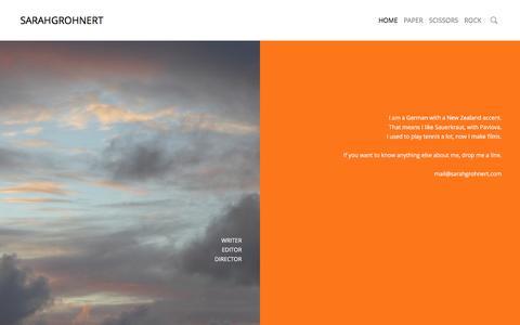 Screenshot of Home Page sarahgrohnert.com - Sarahgrohnert - captured May 27, 2017