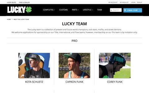 Screenshot of Team Page luckyscooters.com - Meet the Lucky team | Lucky Scooters - captured Nov. 2, 2014