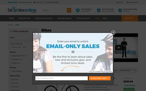Screenshot of Products Page bicyclesonline.com.au - Bikes for sale with Free Shipping |Bicycles Online| - captured June 1, 2017