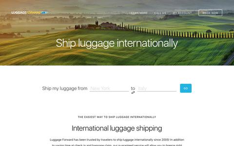 Ship Luggage Internationally - Guaranteed by Luggage Forward®
