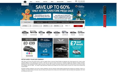 Screenshot of Home Page petervardy.com - New Cars & Used Car Dealerships in Scotland | Peter Vardy - captured Jan. 19, 2016