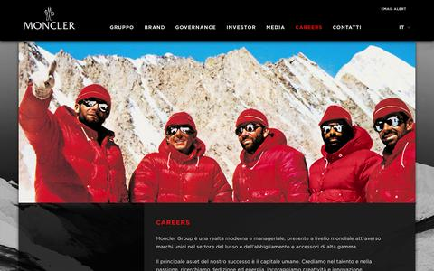 Screenshot of Jobs Page monclergroup.com - Careers   Moncler S.p.A. - captured Oct. 26, 2014