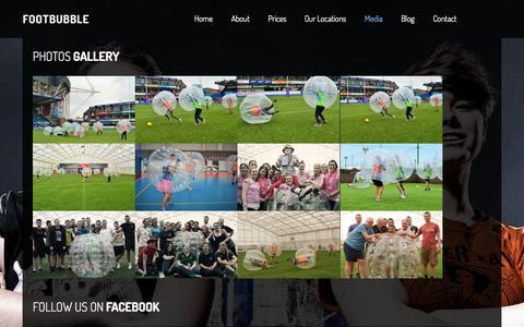 Screenshot of Press Page footbubble.co.uk - Media - captured Sept. 24, 2015