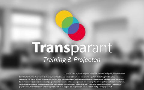 Screenshot of Blog transparanttraining.nl - Blog | Transparant Training & Projecten - captured Oct. 8, 2014