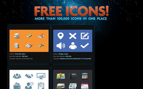Screenshot of iconfinder.com - Free icons! - captured March 19, 2016