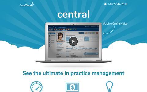Screenshot of Landing Page carecloud.com - View Practice Management Demo - captured March 7, 2017