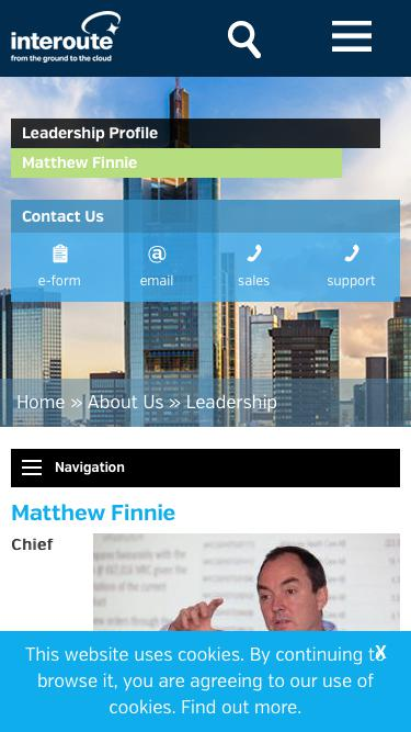 Screenshot of Team Page  interoute.com - Matthew Finnie | Chief Technology Officer | Interoute
