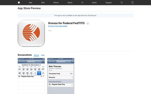 Kronos for Federal FedTITO on the App Store