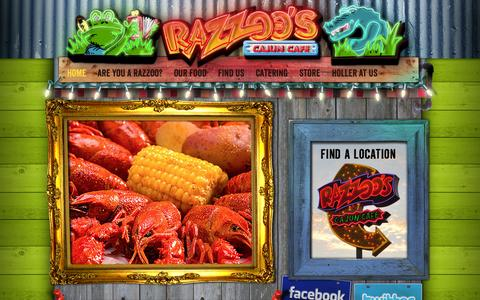 Screenshot of Home Page razzoos.com - Spring, TX opens in September!   Razzoo's - captured Oct. 7, 2014
