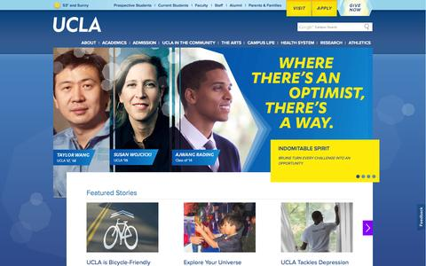 Screenshot of Home Page ucla.edu - UCLA - captured Nov. 6, 2015