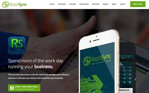 Home - RazorSync   Field Service Software & Mobile App