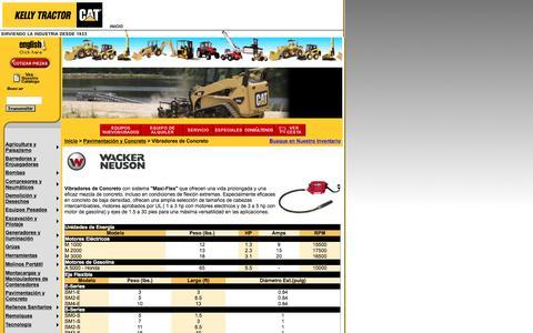 Screenshot of Landing Page kellytractor.com - Kelly Tractor: Vibradores de Concreto - captured Aug. 12, 2016