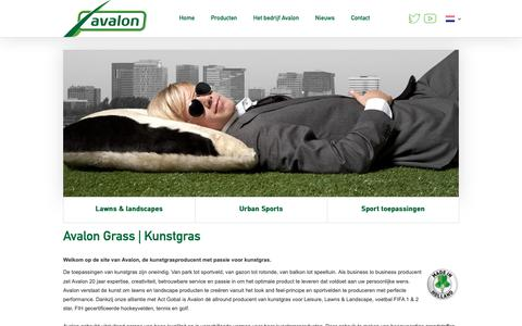 Screenshot of Home Page avalongrass.com - Allround kunstgras fabrikant - producent - leverancier van kunstgras - captured Nov. 13, 2018