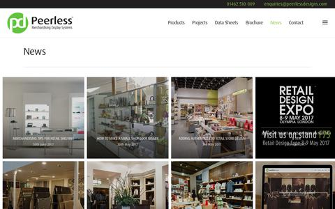 Screenshot of Press Page peerlessdesigns.com - News • Peerless - captured July 20, 2017