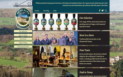 Screenshot of Home Page peakales.co.uk - Home | Peak Ales - captured Jan. 18, 2015